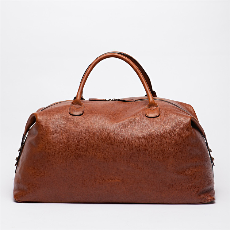 Benedict Weekend Bag in Titan Milled Honey by Moore & Giles