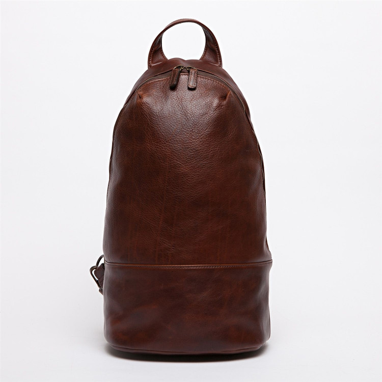 Brennan Rucksack in Titan Milled Brown by Moore & Giles