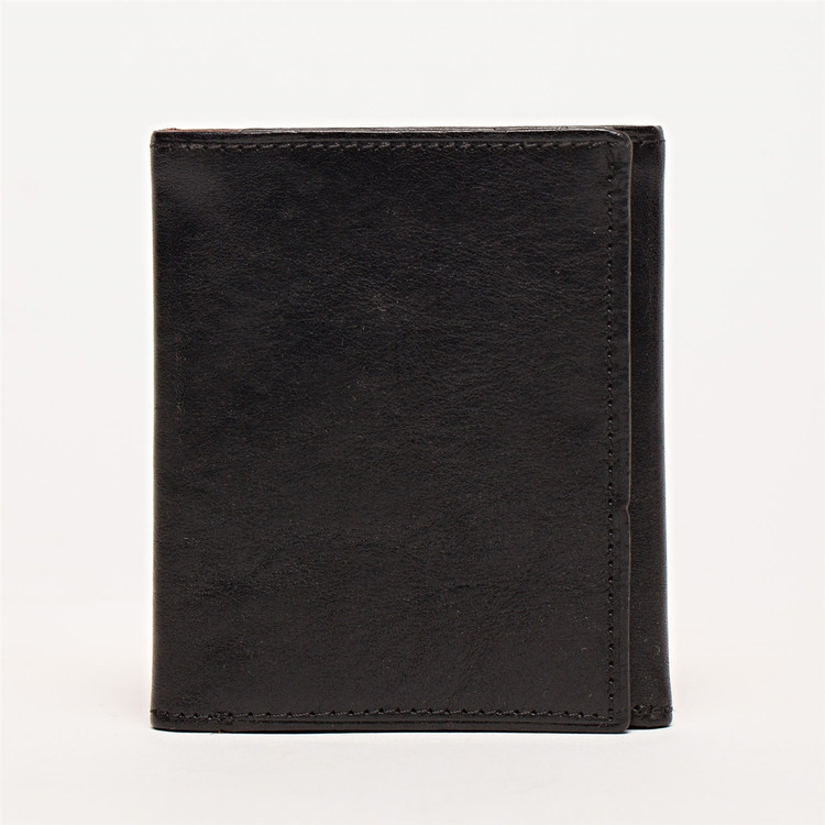 Tri-Fold Wallet in Brompton Black by Moore & Giles