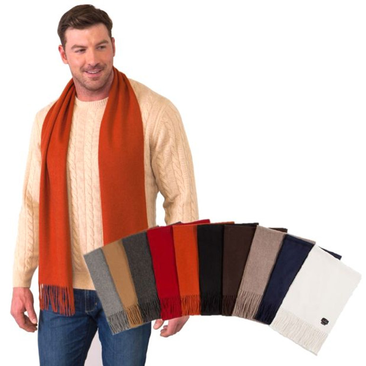 100% Cashmere Solid Color Woven Scarf in Choice of Colors by Alashan Cashmere