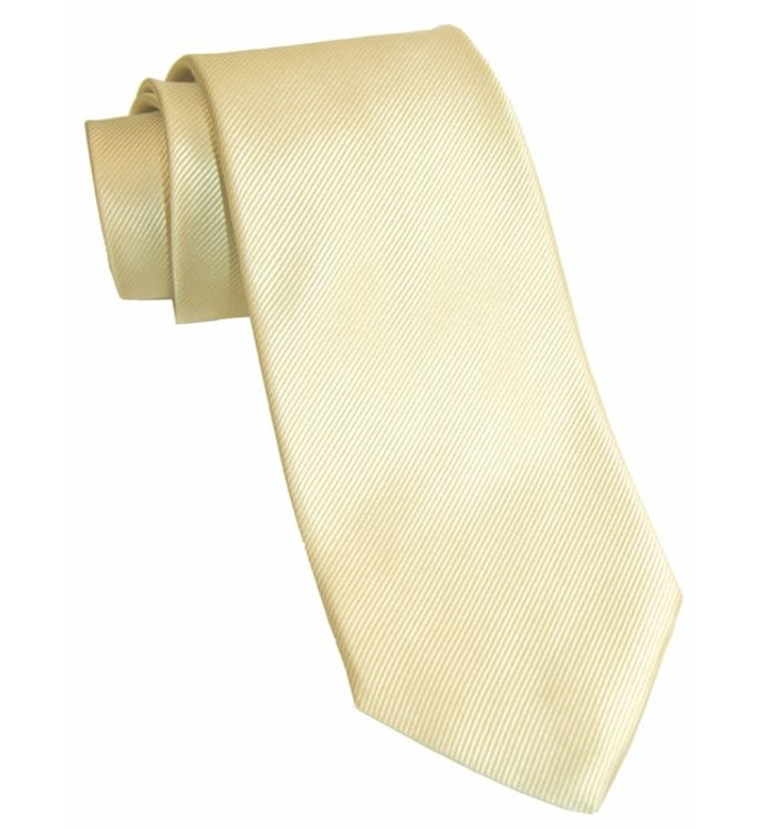 Best of Class Solid Silk Faille Woven Silk Tie in Cream by Robert Talbott