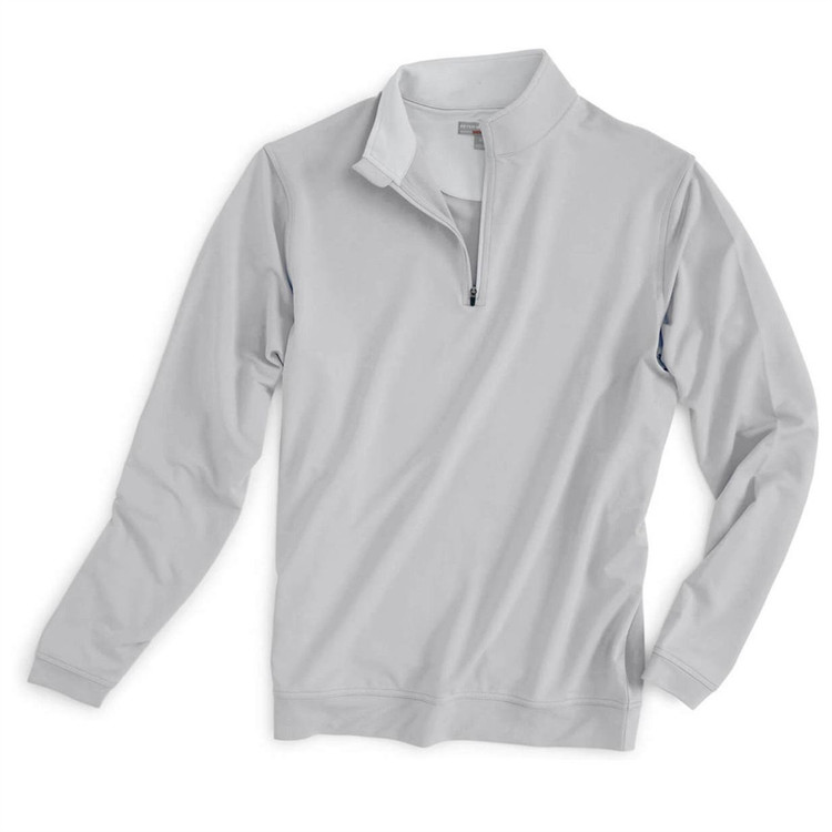 'Perth' Crown Sport Performance Pullover in British Grey by Peter Millar