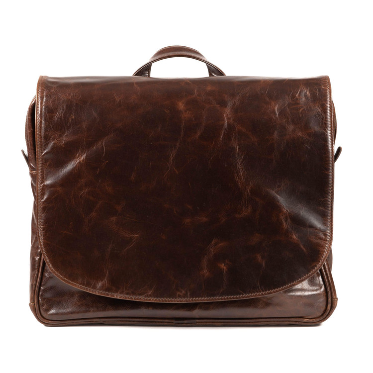 Wynn Mail Bag in Brompton Brown by Moore & Giles