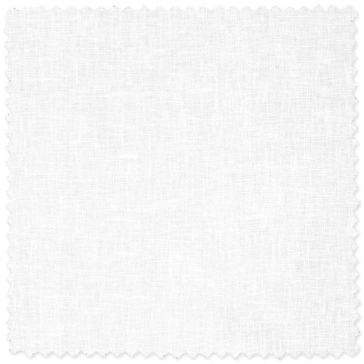 Solid White Linen Custom Dress Shirt by Robert Talbott