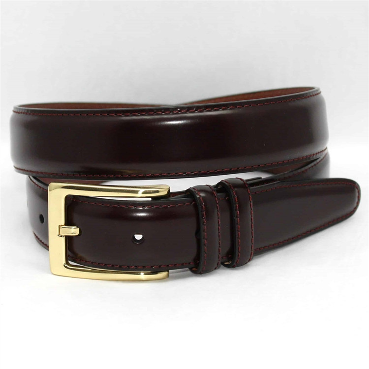 Antigua Leather Belt in Burgundy (EXTENDED SIZES) by Torino Leather Co.
