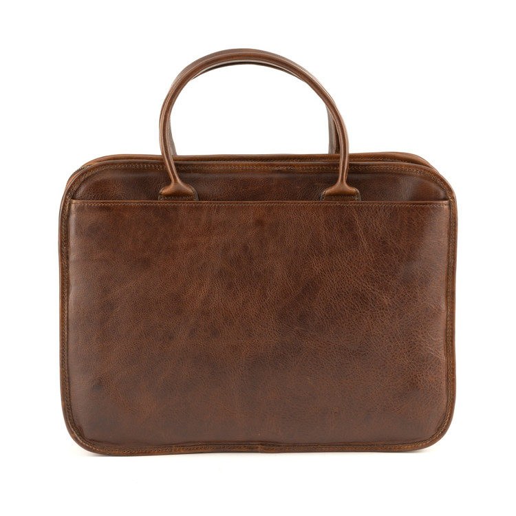 Miller Standard Attache' in Titan Milled Brown by Moore & Giles