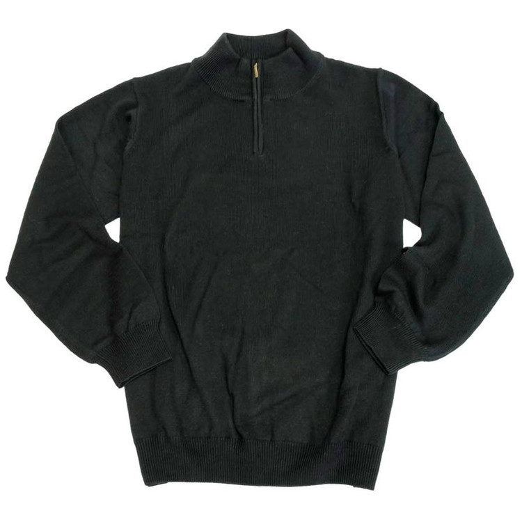 merino wool quarterzip mockneck sweater in butterscotch