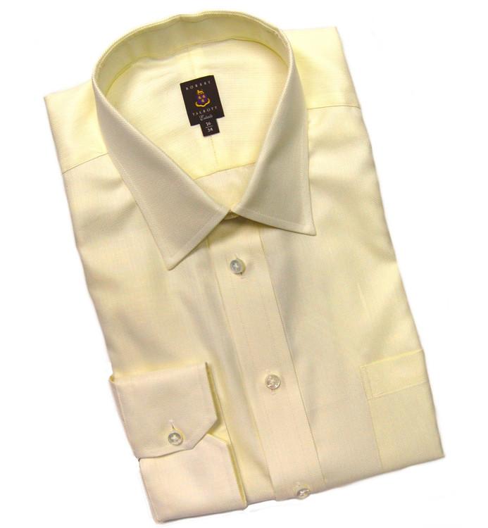 Cream Herringbone Estate Dress Shirt by Robert Talbott