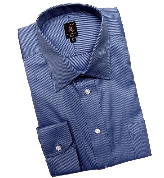 Blue and Sky Twill Stripe Estate Dress Shirt by Robert Talbott