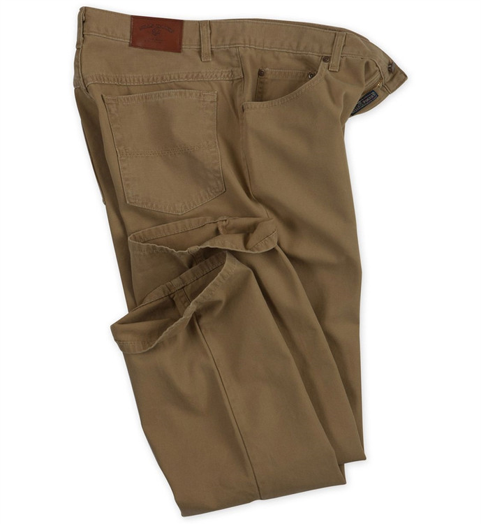 Weathered Canvas Five Pocket Model in Tobacco by Bills Khakis