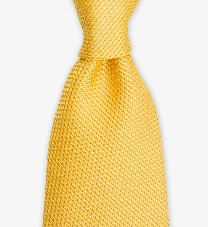 Woven Grenadine Tie in Gold by Gitman Brothers