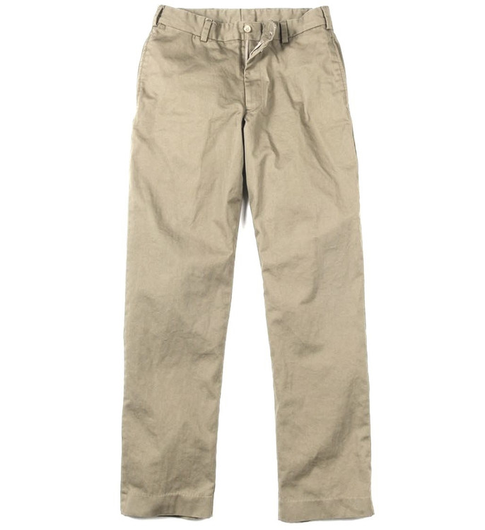 Engineered Stretch Twill Pant - Model M2 Standard Fit Plain Front in Khaki by Bills Khakis