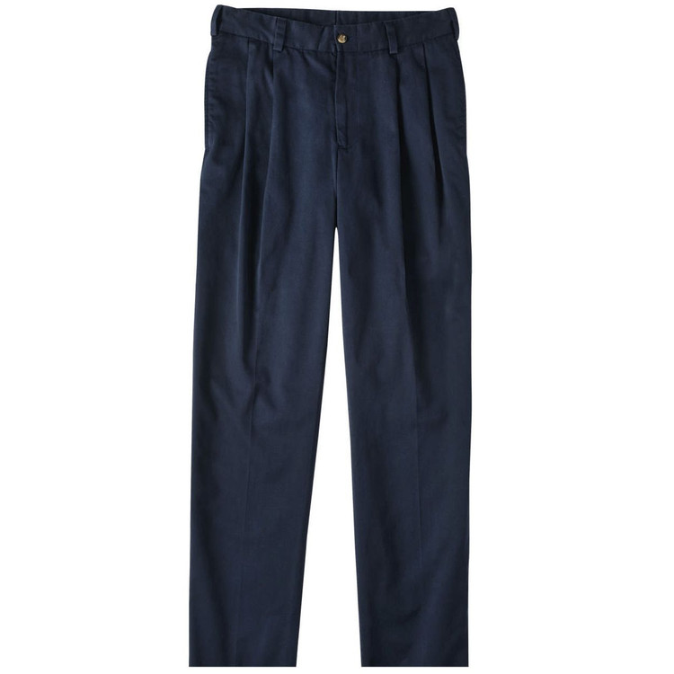 Navy Model M2P Standard Fit Reverse Pleat