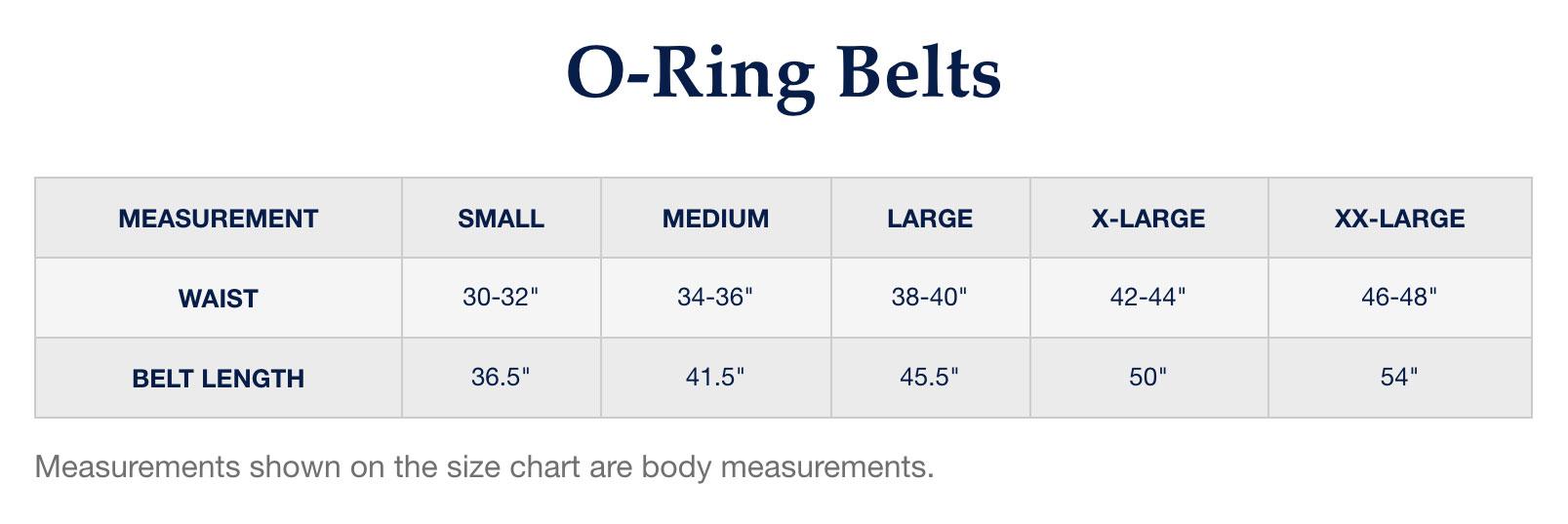 Peter Millar Belt Size Chart