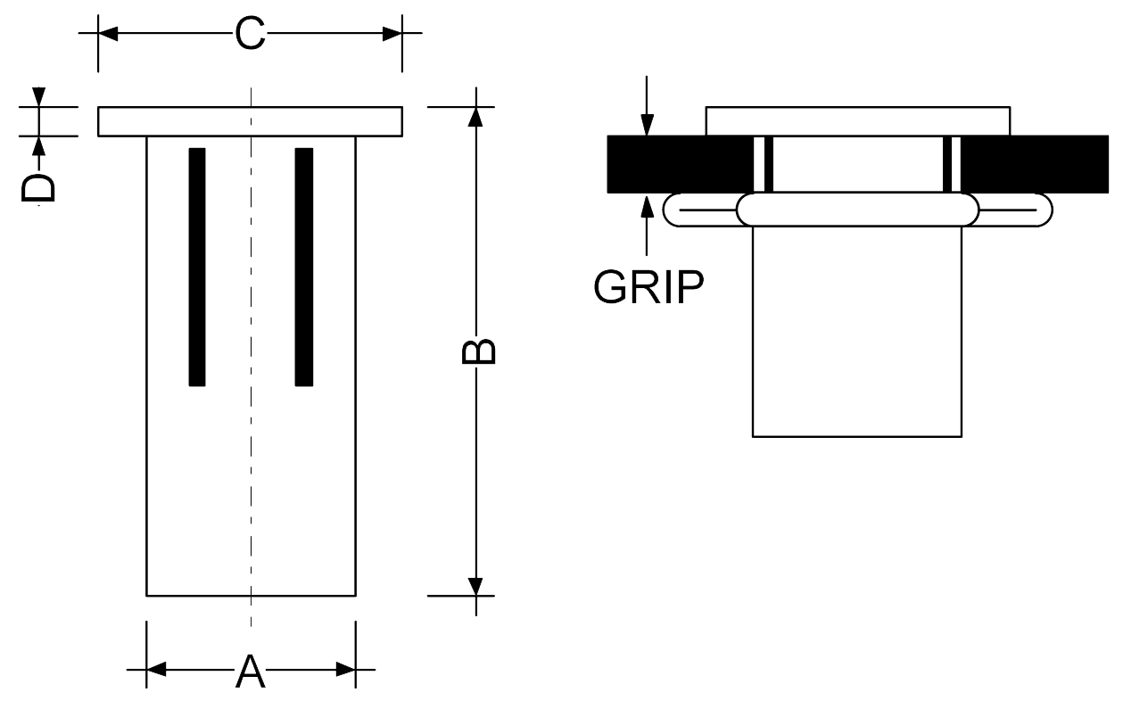 Rivtec® Steel Rivet Nut Range