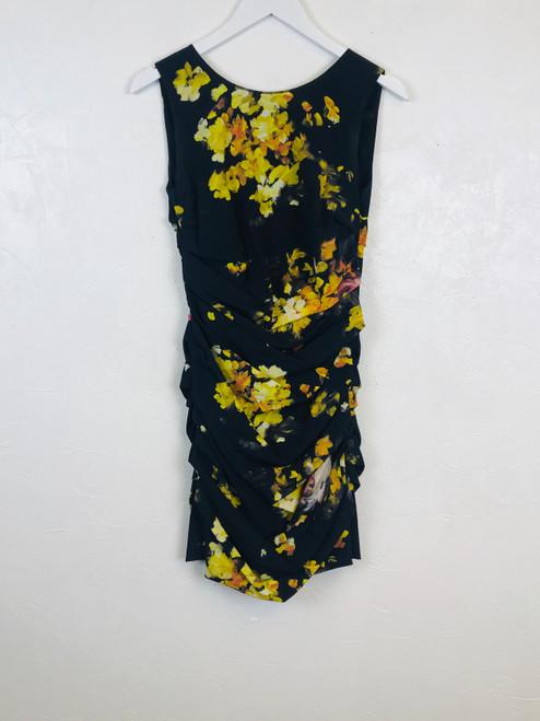 Dolce & Gabbana Floral Ruched Dress. Pre-Owned Designer.