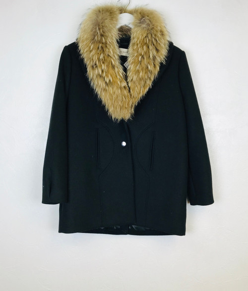 Ba&sh Fur Collar Coat, Pre Owned Designer