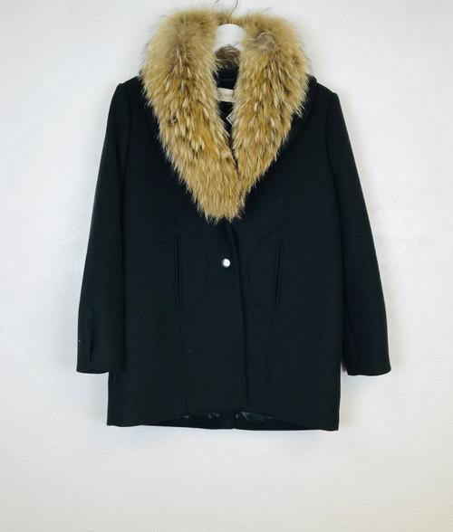 Ba&sh Fur Collar Coat, Pre Owned Designer