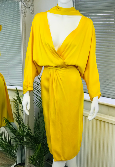 DVF Tie Neck Dress, Swoon Love Sale, Pre Owned Designer