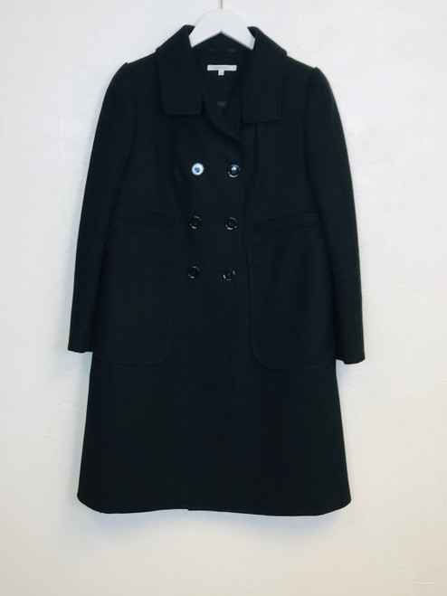 Carven Double Breasted Wool Coat, Pre Owned Designer