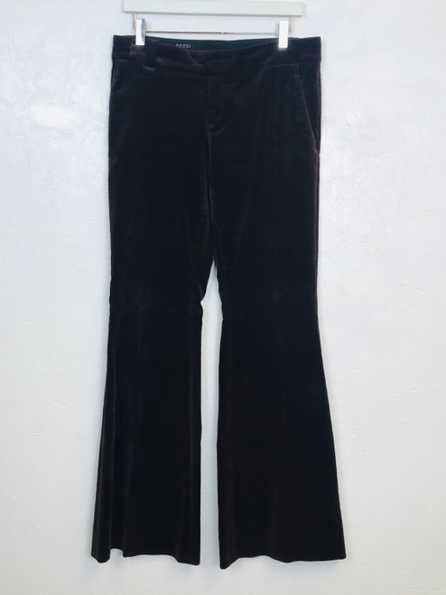 Gucci Burgundy Wide Leg Velvet Trousers. Pre-Owned Designer Collections.