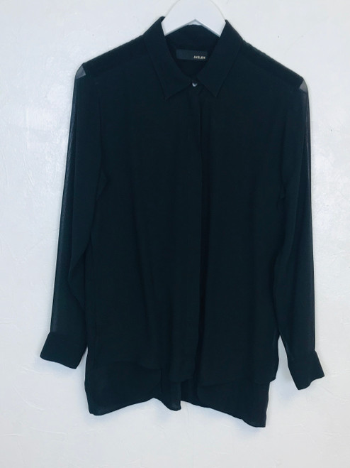 Avelon Sheer Sleeve Shirt, Pre Owned Designer