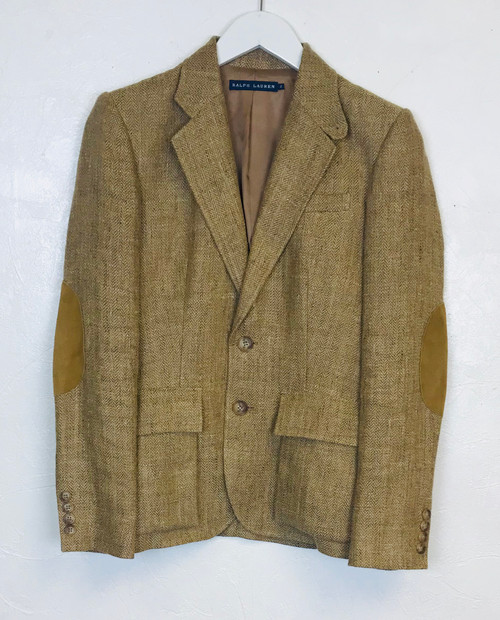 Ralph Lauren Elbow Patch Blazer, Pre Owned Designer