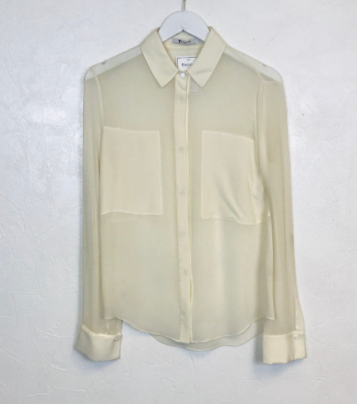 T By Wang Silk Shirt, Pre Owned Designer