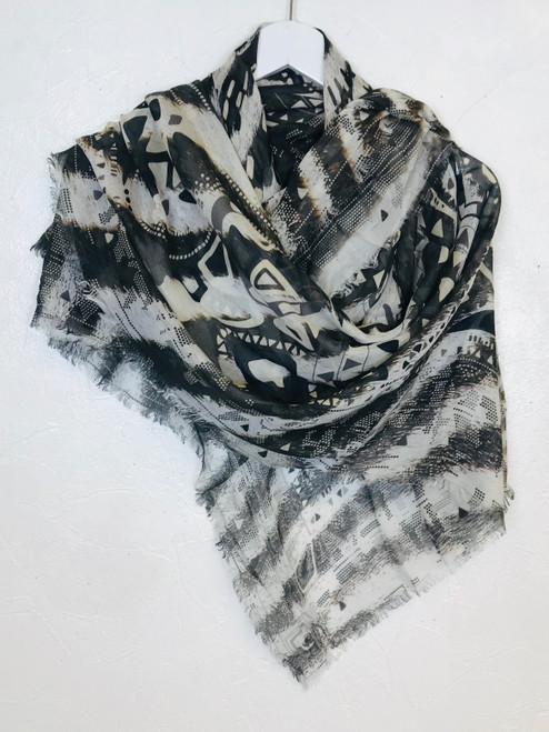 Jane Carr Silk Scarf, Pre Owned Designer