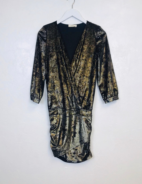 Ba&sh Galaxie Metallic Velvet Dress. Pre-Owned Designer Collections.