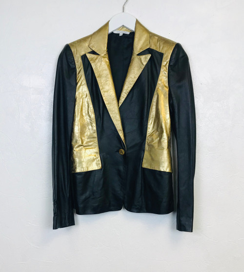 Faith Connexion Leather Jacket, Pre Owned Designer
