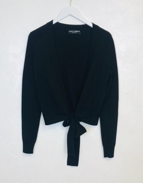 Dolce & Gabbana Tie Waist Cardigan, Pre Owned Designer