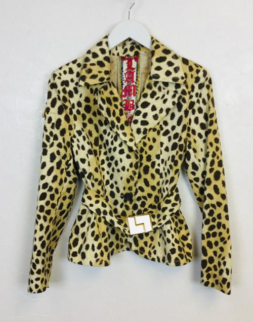 LAMB Leopard Print Jacket, Pre Owned Designer