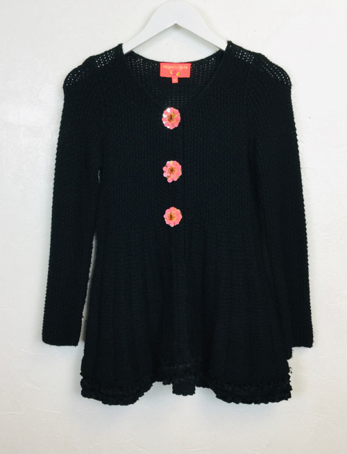 Manoush Flower Button Cardigan, Pre Owned Designer