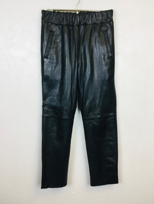 Stand Leather Joggers, Pre Owned Designer