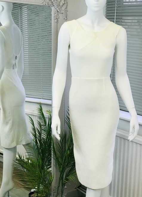 Roland Mouret Zip Back Fitted Dress