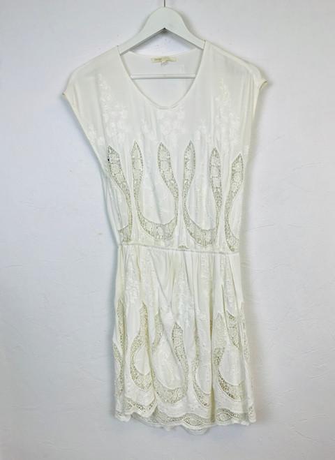 Maje Lace Panel Embroidered Dress