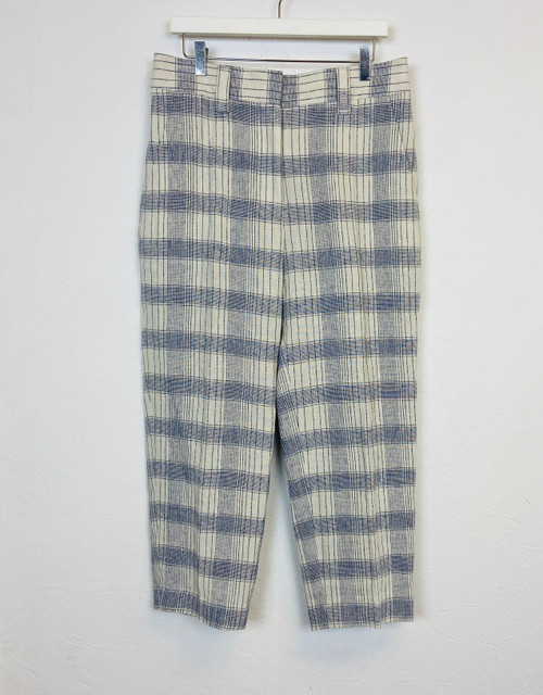Acne Studios Checked Linen Trousers