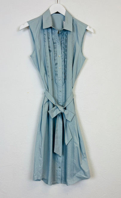 Raoul Pleat & Ruffle Front Dress