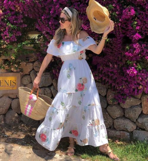 Athena Procopiou Floral Maxi Dress