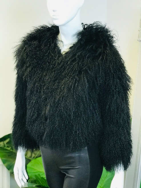 Alice & Olivia Mongolian Fur Jacket (S)