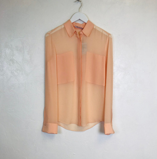 T By Wang Silk Shirt