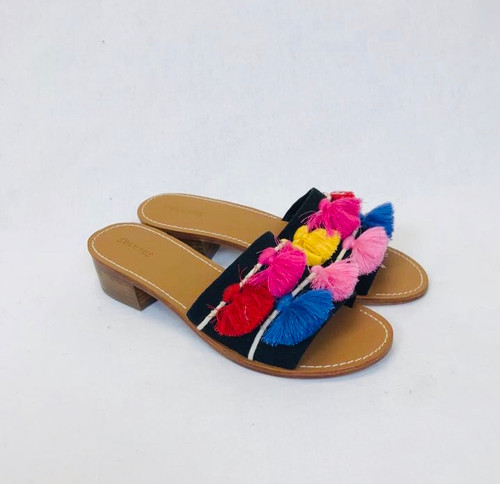Soludos City Tassel Slides
