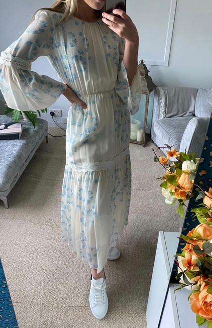 Pre Owned Athena Procopiou Silk Maxi Dress