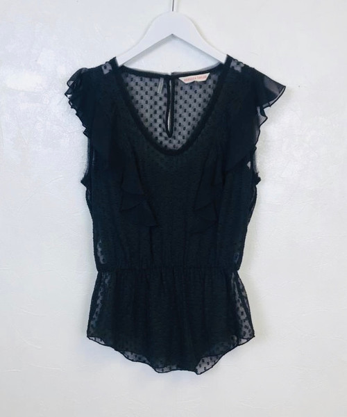 Pre Owned Rebecca Taylor Spot Lace Top