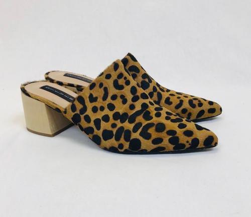 Steve Madden Leopard Mules, Pre Owned Designer