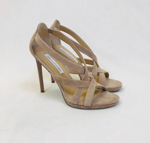 DVF Suede Sandals, Pre Owned Designer