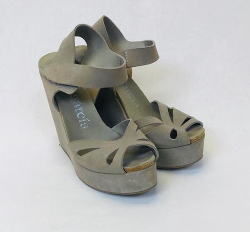 Pedro Garcia Suede Wedge Sandals, Pre Owned Designer