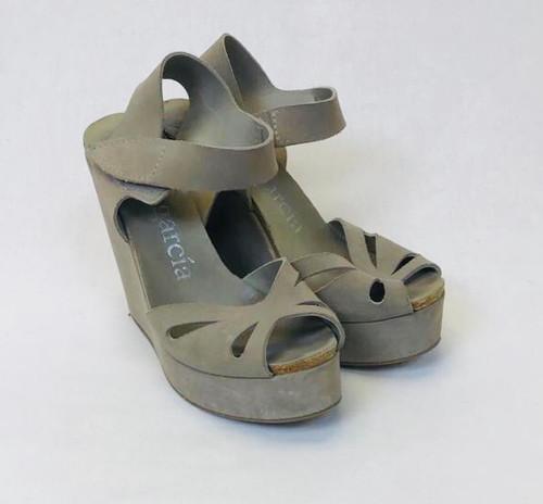 Pedro Garcia Suede Wedge Sandals, Pre Owned Designer