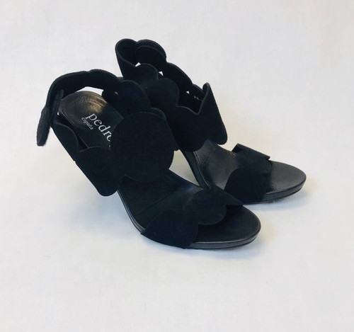 Pedro Garcia York Scalloped Sandals, Pre Owned Designer